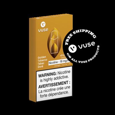 Golden Tobacco Vype (Vuse) Cartridges