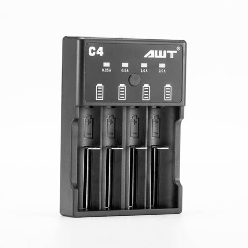 AWT Charger C4 18650 Battery Charger